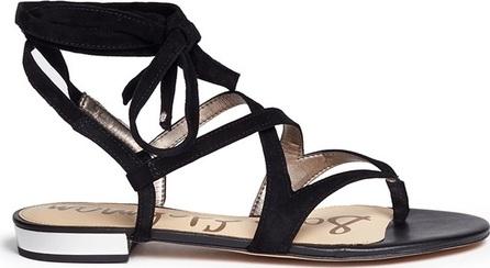 Sam Edelman 'Davina' lace-up suede thong sandals
