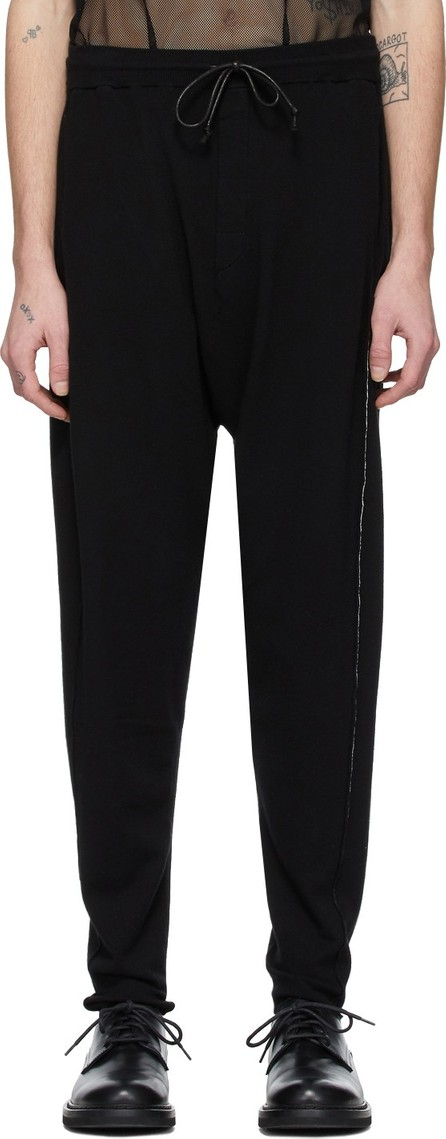 Isabel Benenato Black Contrast Jogging Lounge Pants