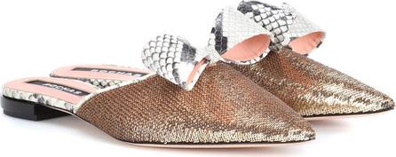 ROCHAS Sequinned slippers
