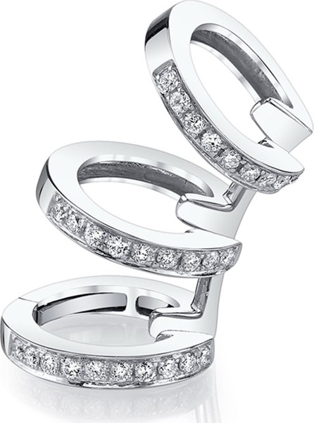 Borgioni 18k White Gold Diamond 3-Cuff Earring