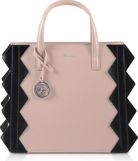 Blumarine Small Color Block Zig-Zag Tote Bag