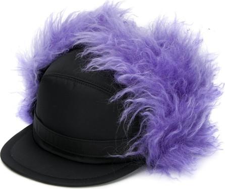 Prada Textured details trapper hat