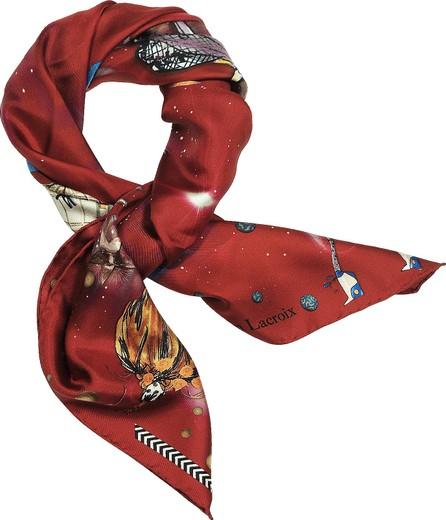 Christian Lacroix Fashion Big Bang Printed Silk Scarf