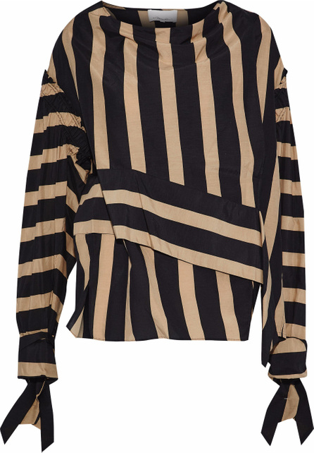 3.1 Phillip Lim Striped cotton and silk-blend poplin blouse