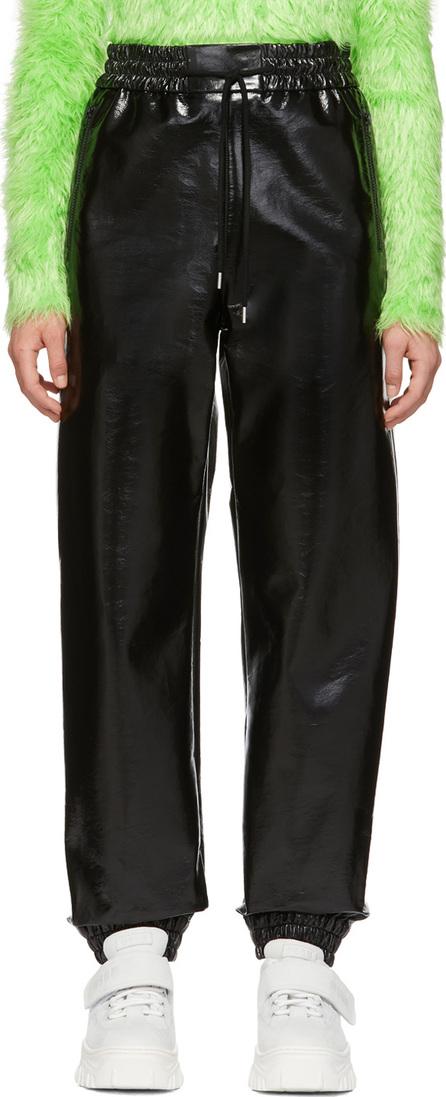 MSGM Black Vinyl Lounge Pants