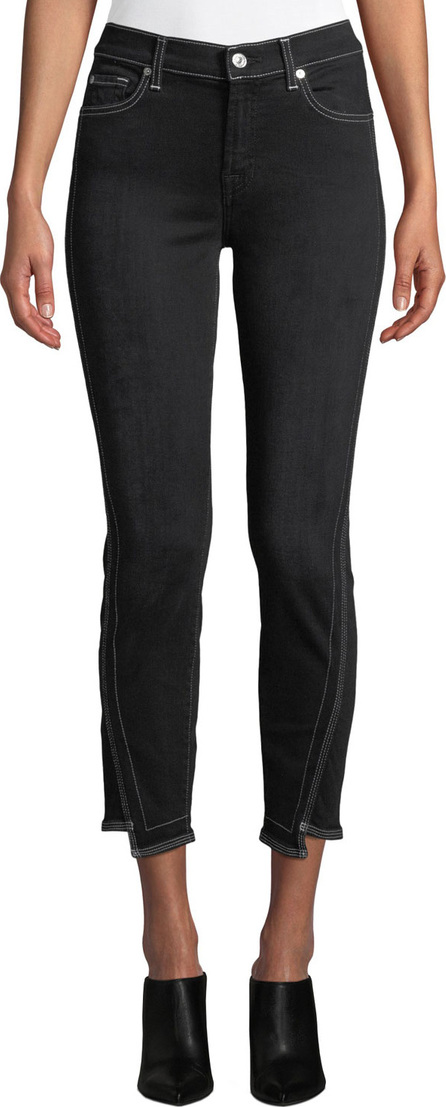 7 For All Mankind The Ankle Skinny-Leg Jeans w/ Step-Hem