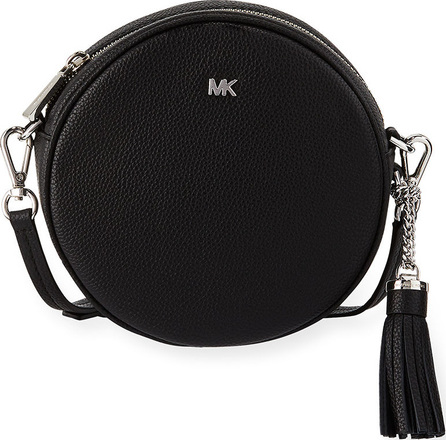 MICHAEL MICHAEL KORS Canteen Medium Round Leather Crossbody Bag - Silvertone Hardware