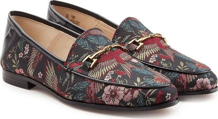 Sam Edelman Printed Fabric Loafers with Leather