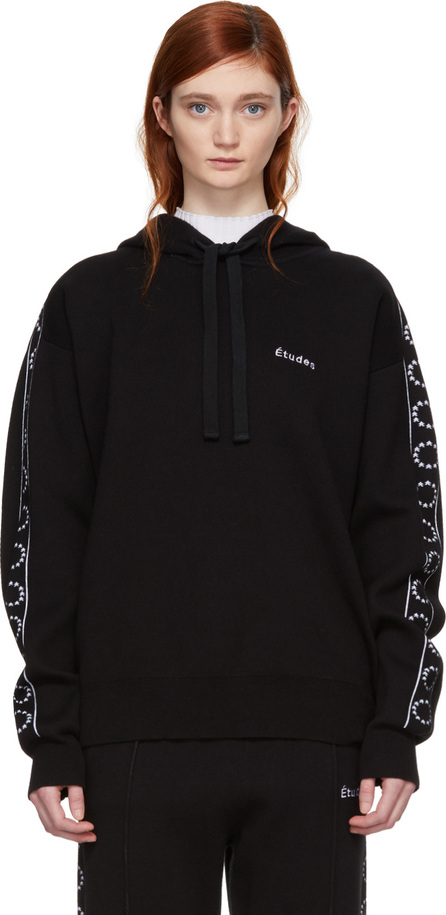 Etudes Black Time-Out Hoodie
