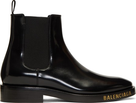 Balenciaga Black Leather Chelsea Boots