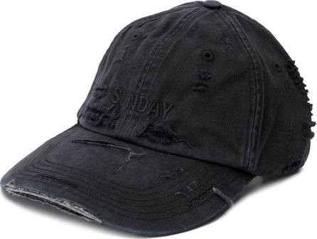 Vetements Vetements x Reebok Sunday distressed cap