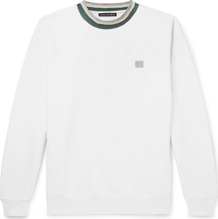 Acne Studios Contrast-Trimmed Fleece-Back Cotton-Jersey Sweatshirt
