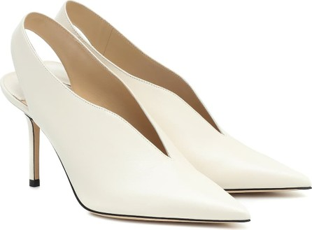 Jimmy Choo Saise 85 slingback leather pumps