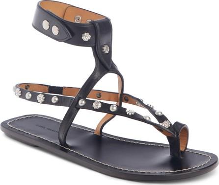 Isabel Marant Engo Flower Studded Gladiator Sandal