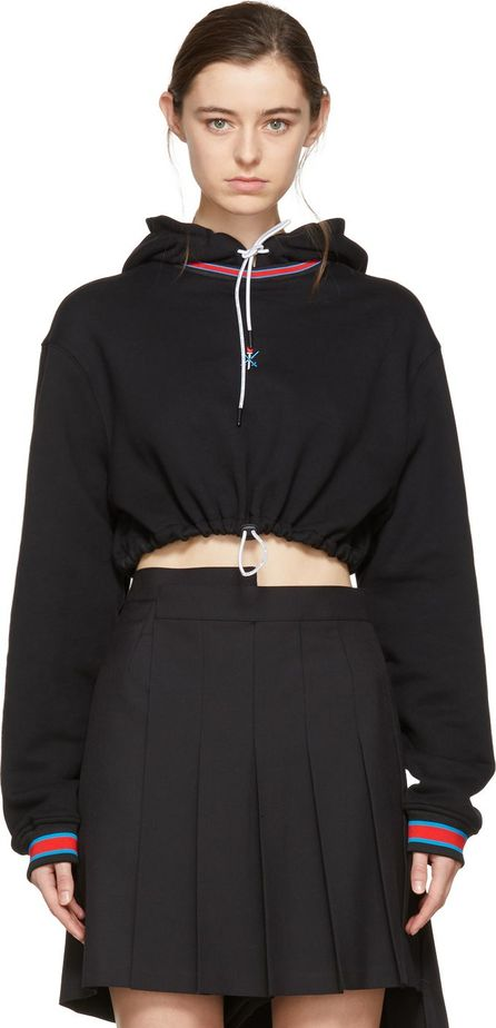 Opening Ceremony Black Cropped Ringer Hoodie