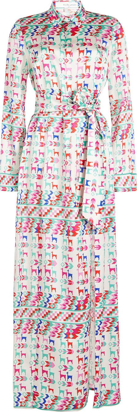 Galvan Andina Printed Silk Shirt Dress