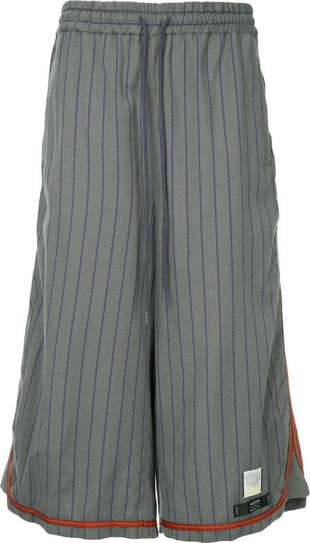 FACETASM Facetasm x Woolmark long striped shorts