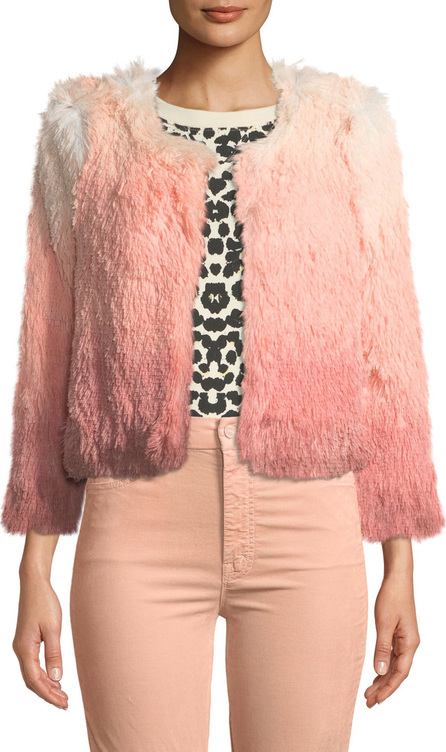 MOTHER The Boxy Shaggy Ombre Cropped Jacket