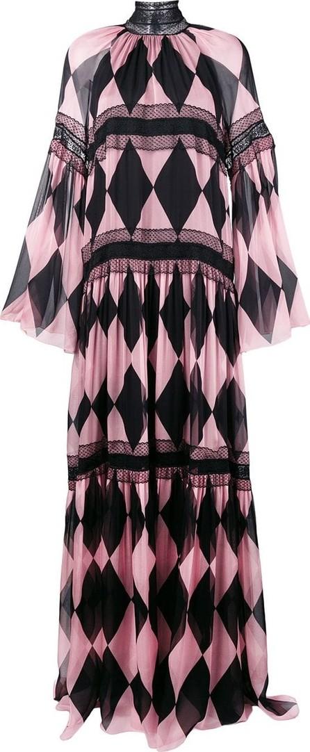 Philosophy Di Lorenzo Serafini Diamond pattern evening dress
