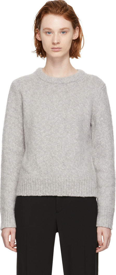 Chloe Grey Fluffy Crewneck Sweater