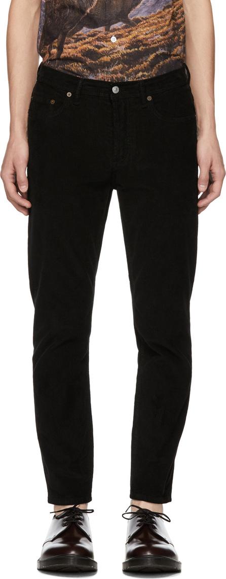 Acne Studios Blå Konst Black Corduroy River Trousers