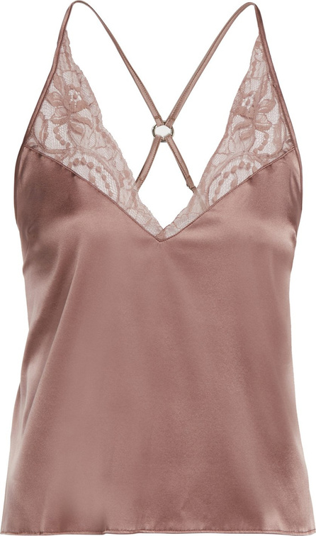 Fleur of England Lace-trimmed silk camisole top