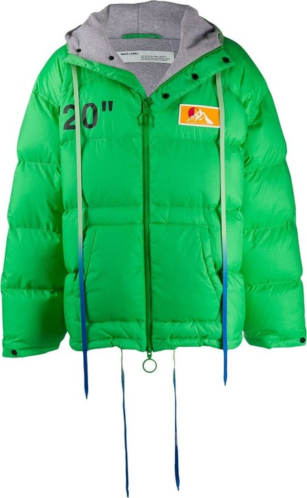 Off White Multicoloured strings padded jacket