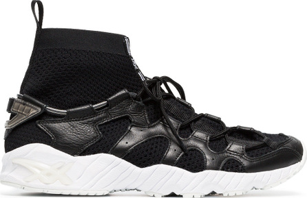 Asics Black Gel-Mai knit leather low-top sneakers