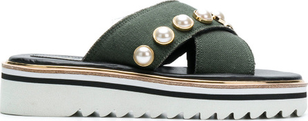 Suecomma Bonnie Jewel ornament platform sandals