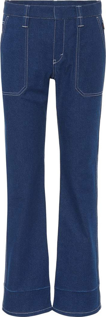 Chloe High-waisted cropped jeans