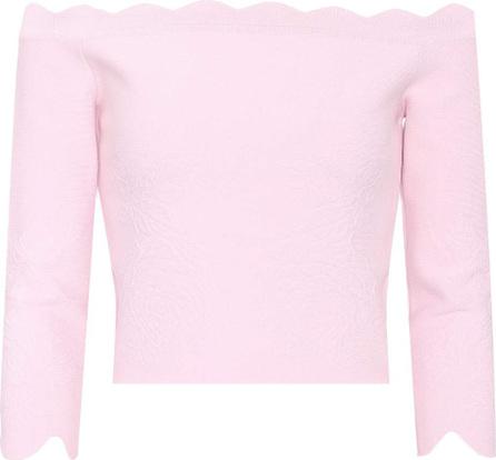 Alexander McQueen Off-the-shoulder knit top