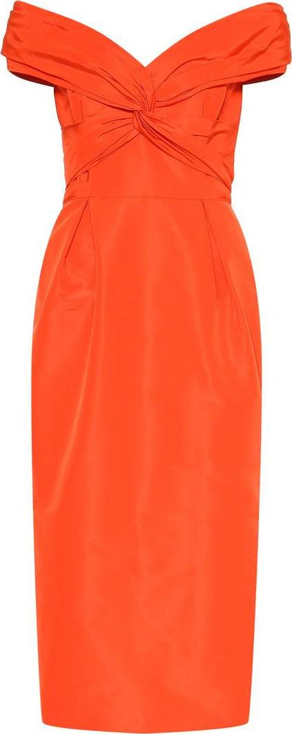 Carolina Herrera Off-the-shoulder silk dress