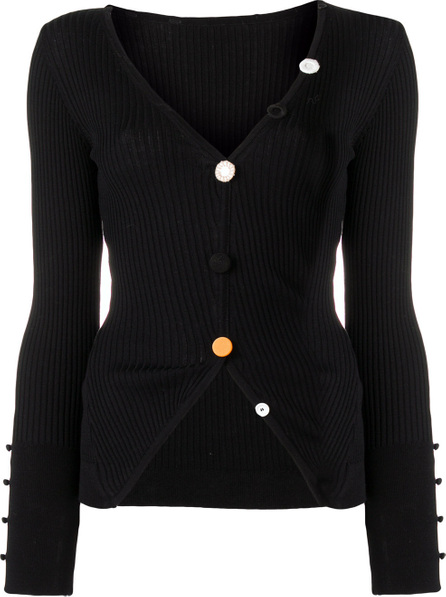 Jacquemus Contrast button fitted sweater