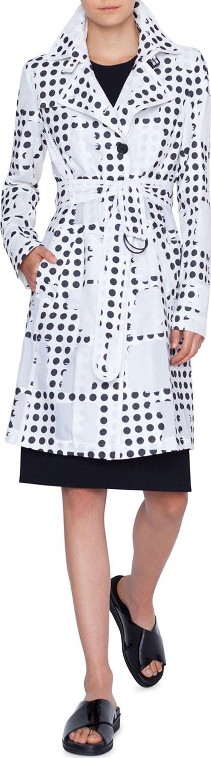 Akris Punto Window-Dot Trench Coat