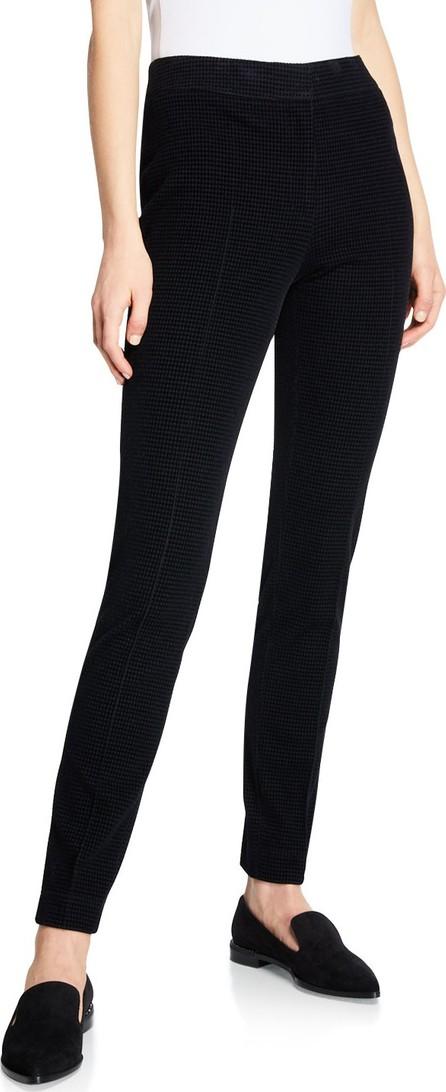 Akris Punto Mara Front Stretch-Knit Back Tapered-Leg Pants