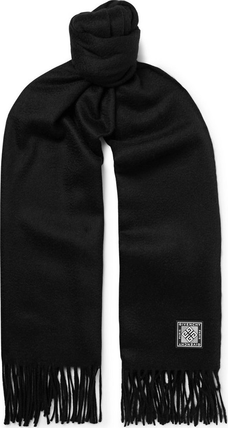 Givenchy Logo-Appliquéd Wool and Cashmere-Blend Scarf