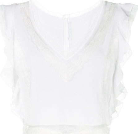 Ermanno Scervino Lace and frill trim blouse