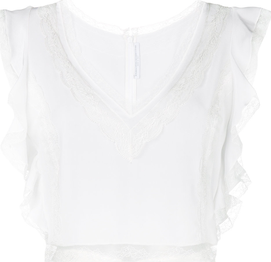 Ermanno Scervino - Lace and frill trim blouse