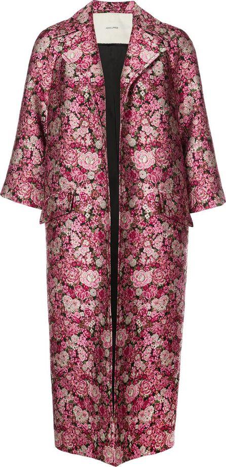 Adam Lippes floral jacquard coat