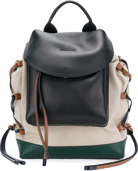 Marni Lace-up panelled backpack