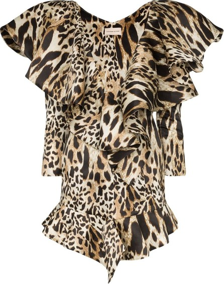 Alexandre Vauthier Animal-print ruffled mini dress