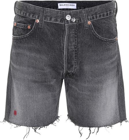 Balenciaga Cut-off denim shorts