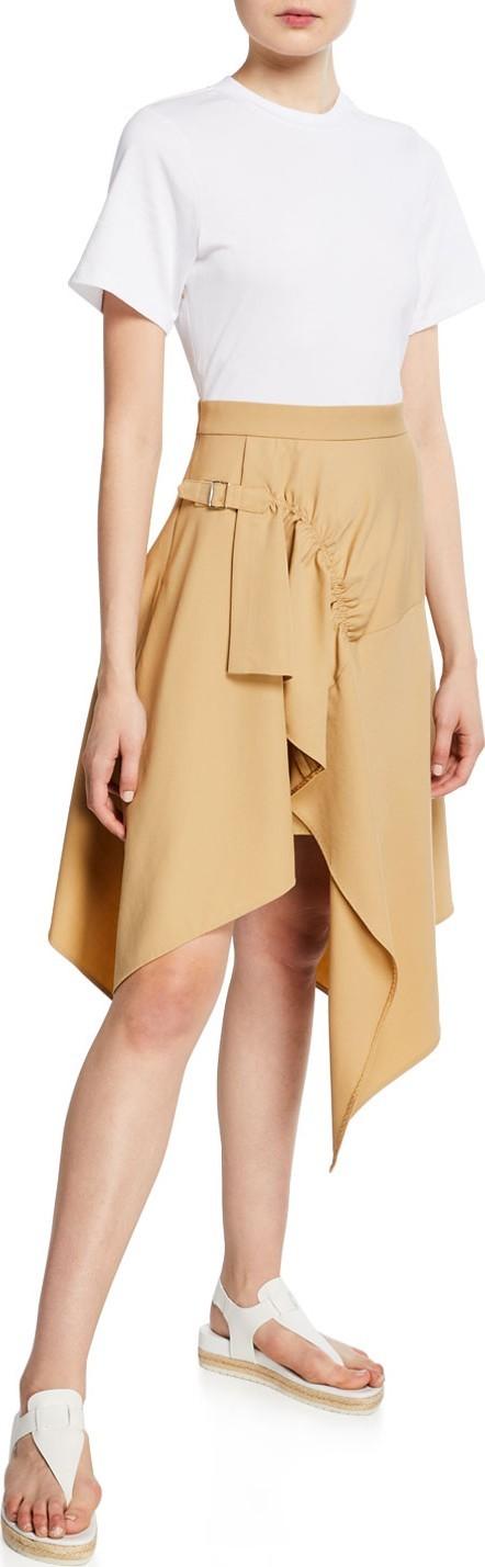 3.1 Phillip Lim Short-Sleeve Wool Handkerchief Tee Combo Dress