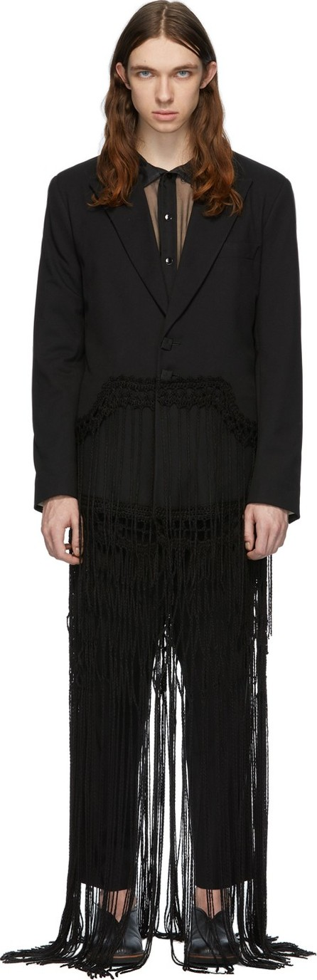 Palomo Spain Black Fringe Blazer