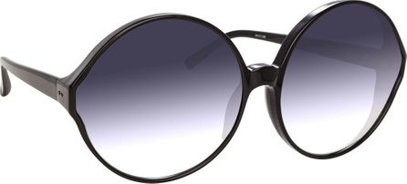 Linda Farrow Round Gradient Acetate Sunglasses