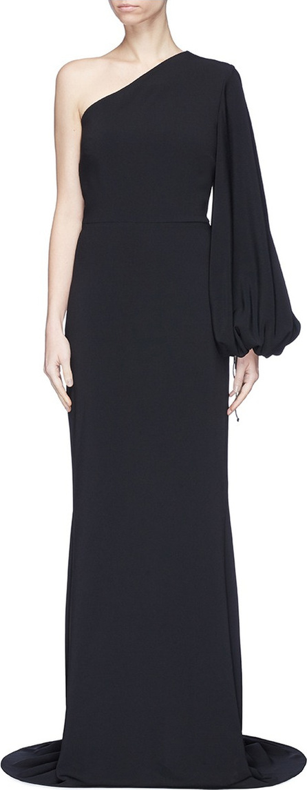 Stella McCartney 'Kate' one-shoulder balloon sleeve cady gown