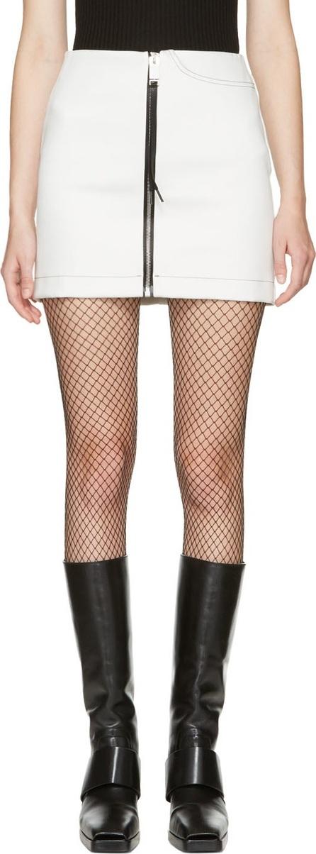 Alyx White Denim Zip Miniskirt