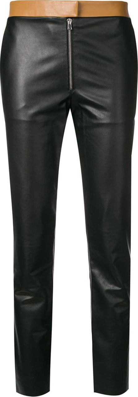 Victoria Beckham Two tone leather trousers
