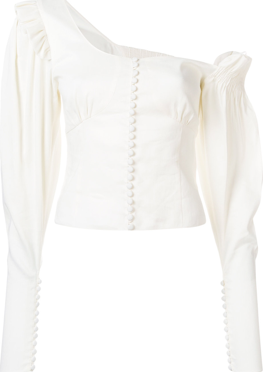 Magda Butrym - Off-shoulder button blouse