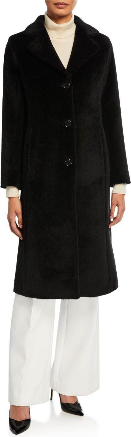 Jane Post Long 3-Button Alpaca Coat